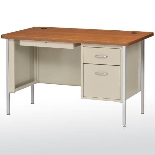 "SQ4830PO Steel Teachers Desk Single Pedestal 48""W x 29 1"
