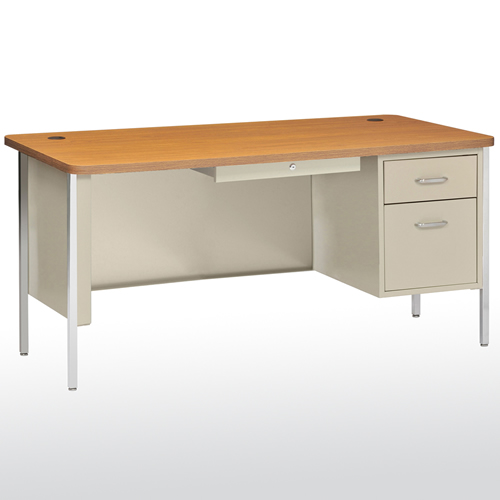 "SQ6030PO Steel Teachers Desk Single Pedestal 60""W x 29 1"