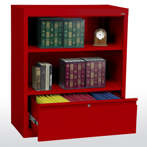 """Elite Welded Bookcases with File Drawer 18"""" Depths"""