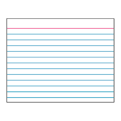 Data index card for 5 by 8 index card template