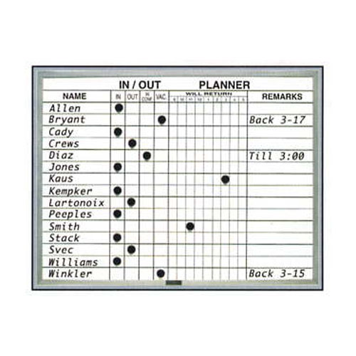 In/Out Planner