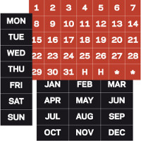 Magnetic Calendar Headings