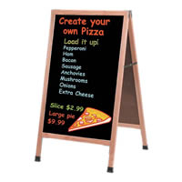 Sidewalk, Menu, Sandwich Chalkboards.  Magnetic, Composition, Acrylic. Perfect for outdoor use. Printed Graphics Available.  Quick Delivery.