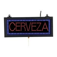 CERVEZA - LED Window Sign