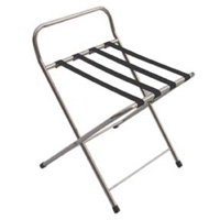 Chrome Folding Luggage Stands