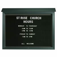 Park Ranger Series Top Hinged Single Door Letter Board