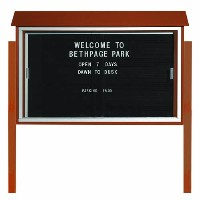 Park Ranger Series Sliding Door Letter Board with Mounting Posts