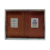 Sliding Glass Door Enclosed Bulletin Boards