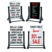 Sidewalk, Menu & Sandwich Boards.  Changeable Letters, Sign