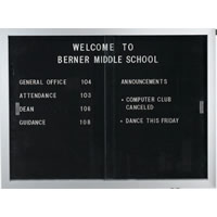 Sliding Door Indoor Enclosed Letter Boards