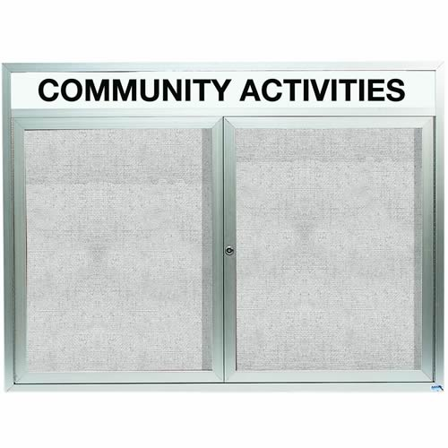 Outdoor Enclosed Aluminum Bulletin Boards