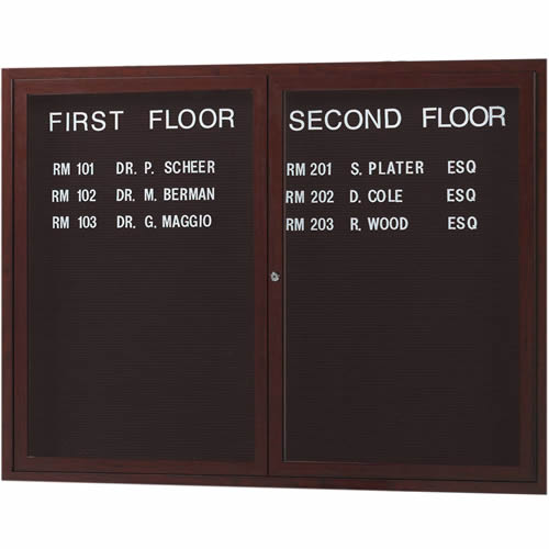 Outdoor Directory Boards with Wood-Look Finish