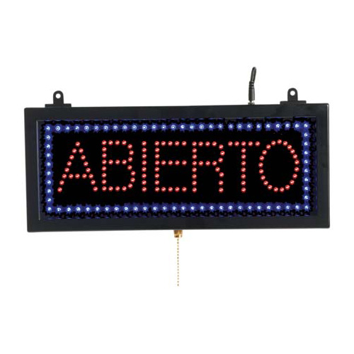 ABIERTO - LED Window Sign