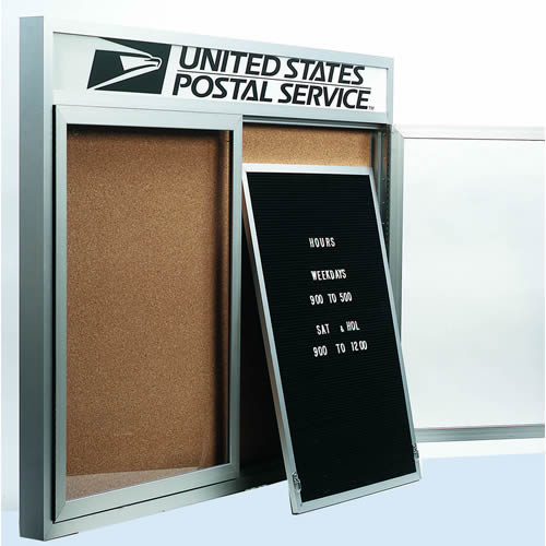 Removable Letter Panels for Enclosed Red Oak Bulletin Boards with Headers