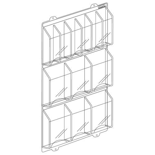 Clear-Vu Acrylic Pocket Combination Pamphlet / Magazine Holders