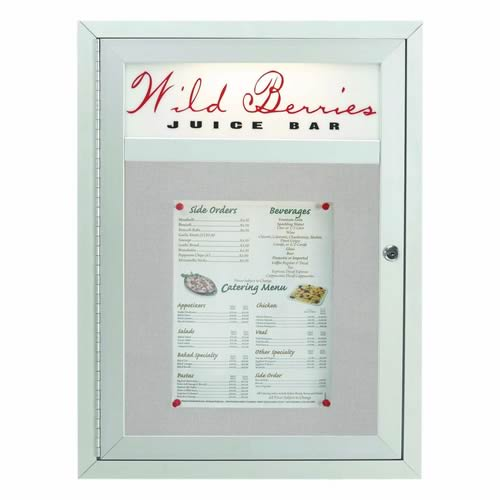 Indoor/Outdoor Main Street Style Enclosed Bulletin Board