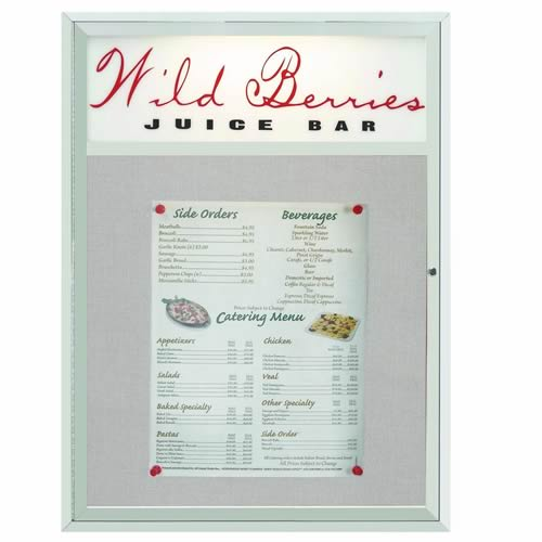 Indoor/Outdoor Main Street Style Enclosed Bulletin Board