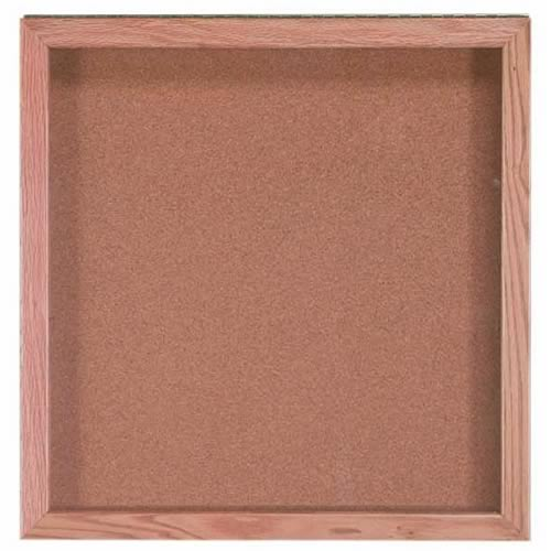 Memorabilia Display Case with Red Oak Frame