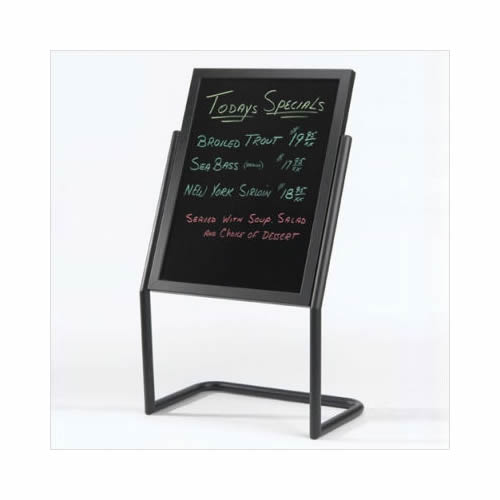 Dual Capability Neon Markerboard and Menu/Poster Holder