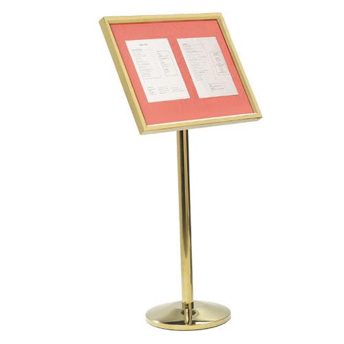 Single Pedestal Menu Stands