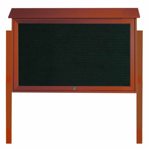 Park Ranger Series Top Hinged Single Door Letter Board with Mounting Posts