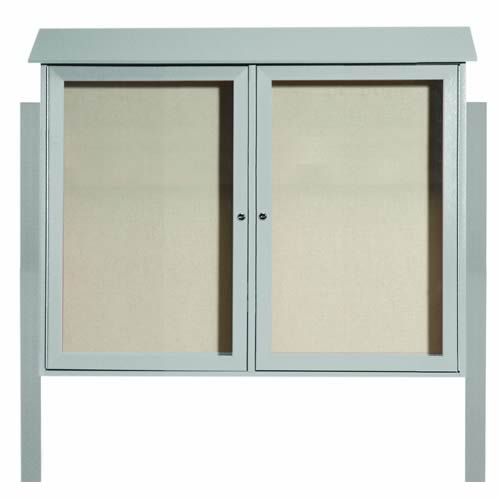 Park Ranger Series Two Door Hinged Door Bulletin Board with Mounting Posts