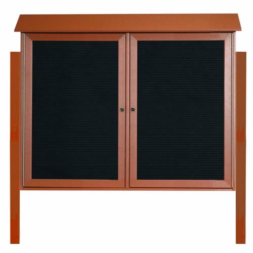 Park Ranger Series Two Door Hinged Door Letter Board with Mounting Posts