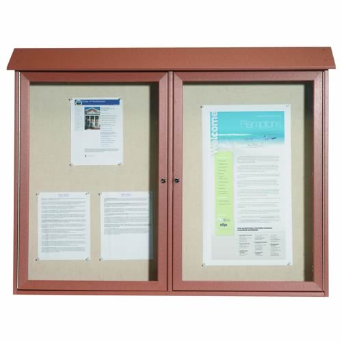 Park Ranger Series Two Door Hinged Door Bulletin Board