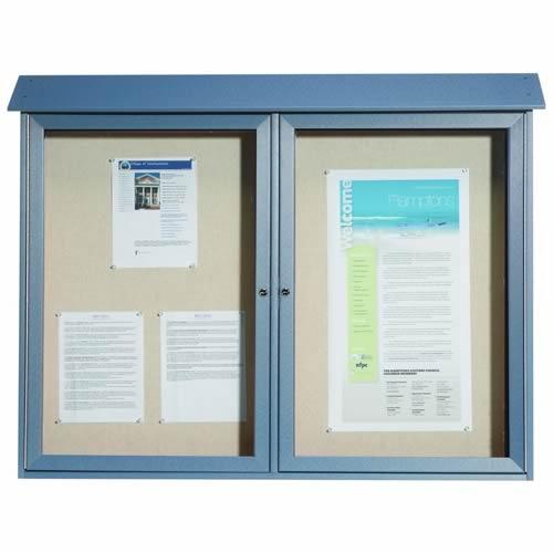 Park Ranger Series Two Door Hinged Door Bulletin Board