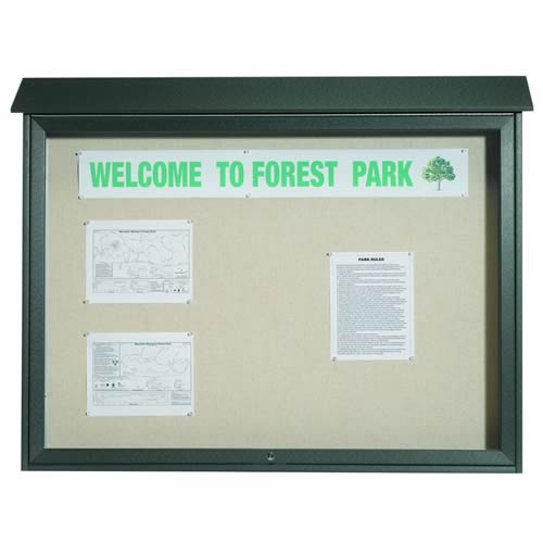 Park Ranger Series Top Hinged Single Door Bulletin Board
