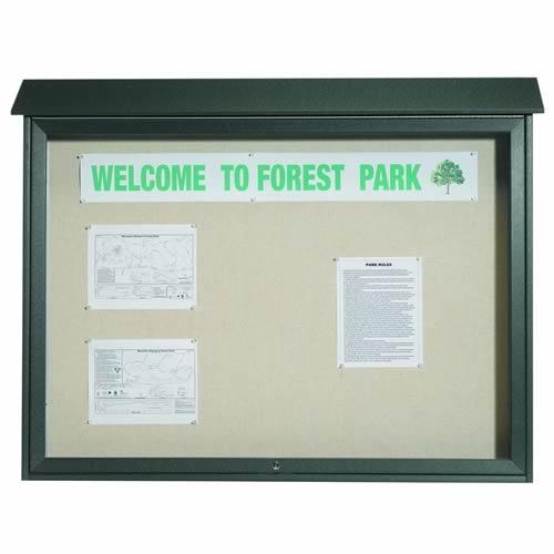 Park Ranger Series Top Hinged Single Door Bulletin Board