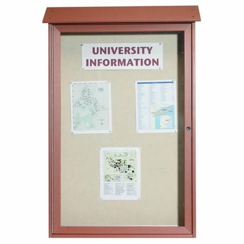Park Ranger Series Single Hinged Door Bulletin Board