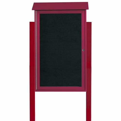 Park Ranger Series Single Hinged Door Letter Board with Mounting Posts