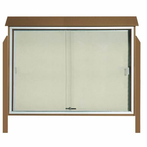 Park Ranger Series Sliding Door Bulletin Board with Mounting Posts
