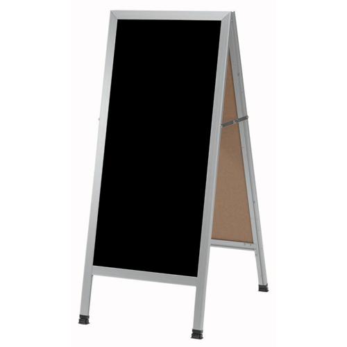 Slim A-Frame Sidewalk Black Markerboards