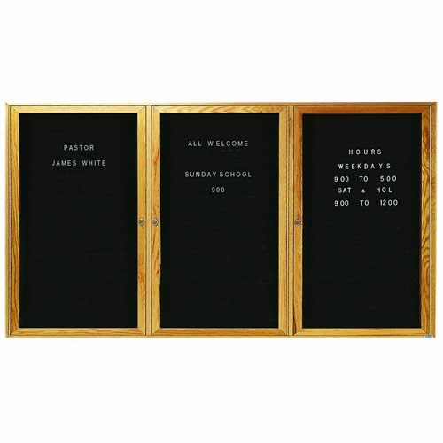 Indoor Enclosed Aluminum Changeable Letter Boards