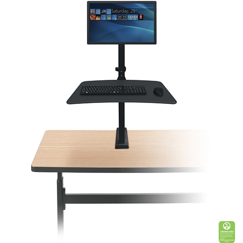 Up-Rite Desk Mounted Sit/Stand Workstation Monitor Mount