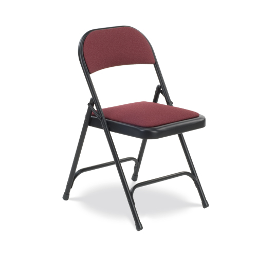 Upholstered virco folding chairs in padded seat - 188 Series Upholstered Folding Chair