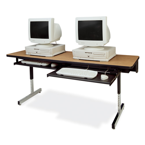 8700 Series Rectangular Computer Workstation