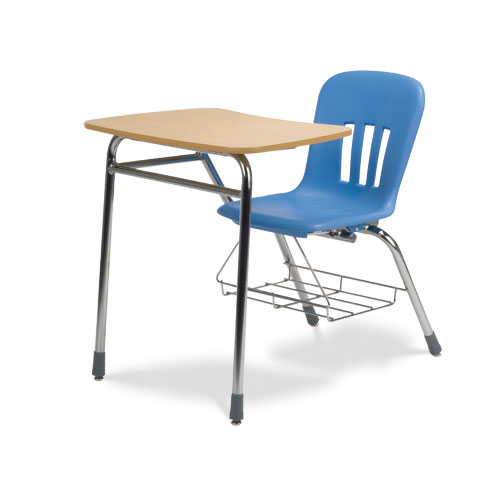 Metaphor™ Combo Desk - Bowfront Hard Plastic Top