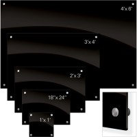 Black Glass Dry Erase Boards