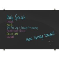 Visionary® Black Magnetic Glass Dry Erase Whiteboard