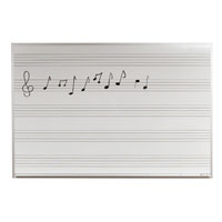Music Lined Whiteboards. Wall Mounted and Freestanding, Rolling Boards.  Custom Sizes Available