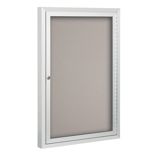 Standard Bulletin Board Cabinets with Hinged Doors