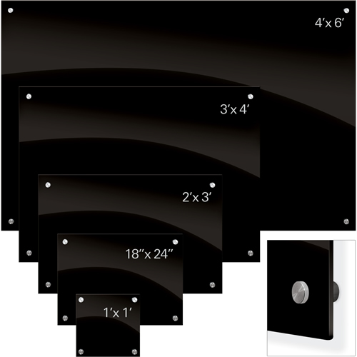 Enlighten™ Black Glass Dry Erase Whiteboard