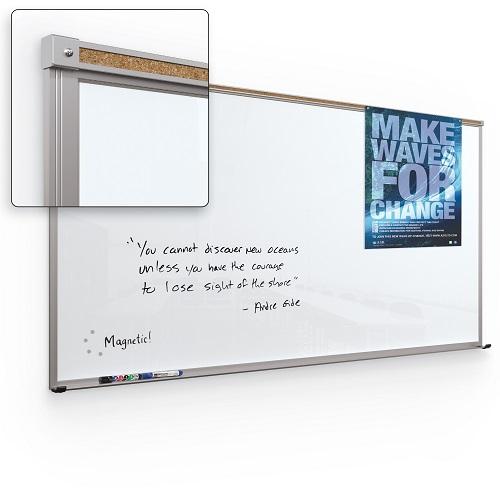 Framed Magnetic Glass Dry Erase Whiteboard