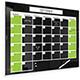 Black Magnetic Glass Dry Erase Monthly Calendar