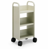 21096 - One-Sided Booktruck with 3 Sloping Shelves