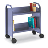 21110 - One-Sided Booktruck with 2 Sloping Shelves