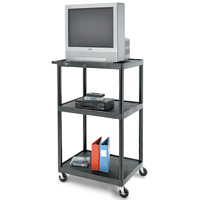 "PIXMate® Plastic Cart with 24"" x 32"" Top Shelf"